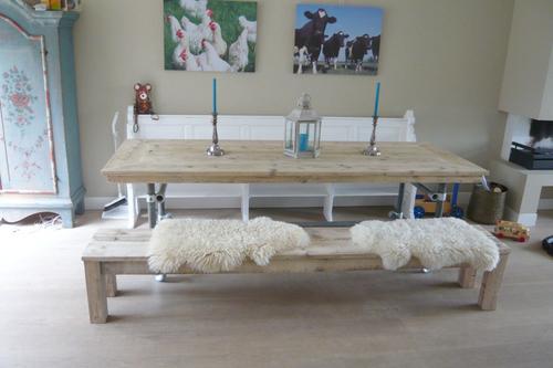 Brocante Keuken Kopen : ligbed met leuning 90 x 200 cm